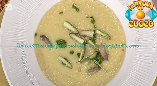 Ricetta dei Manfrigoli risottati asparagi e pesto di stridoli da La Prova del Cuoco