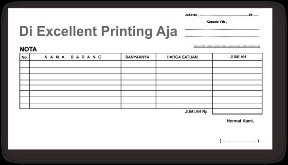 Nota Kwitansi Excellent Printing