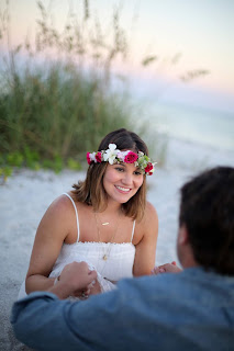 Sanibel couple on the beach at sunset