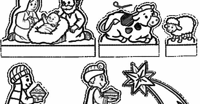 Baú Da Web: Desenhos E Moldes De Presépio Para Imprimir