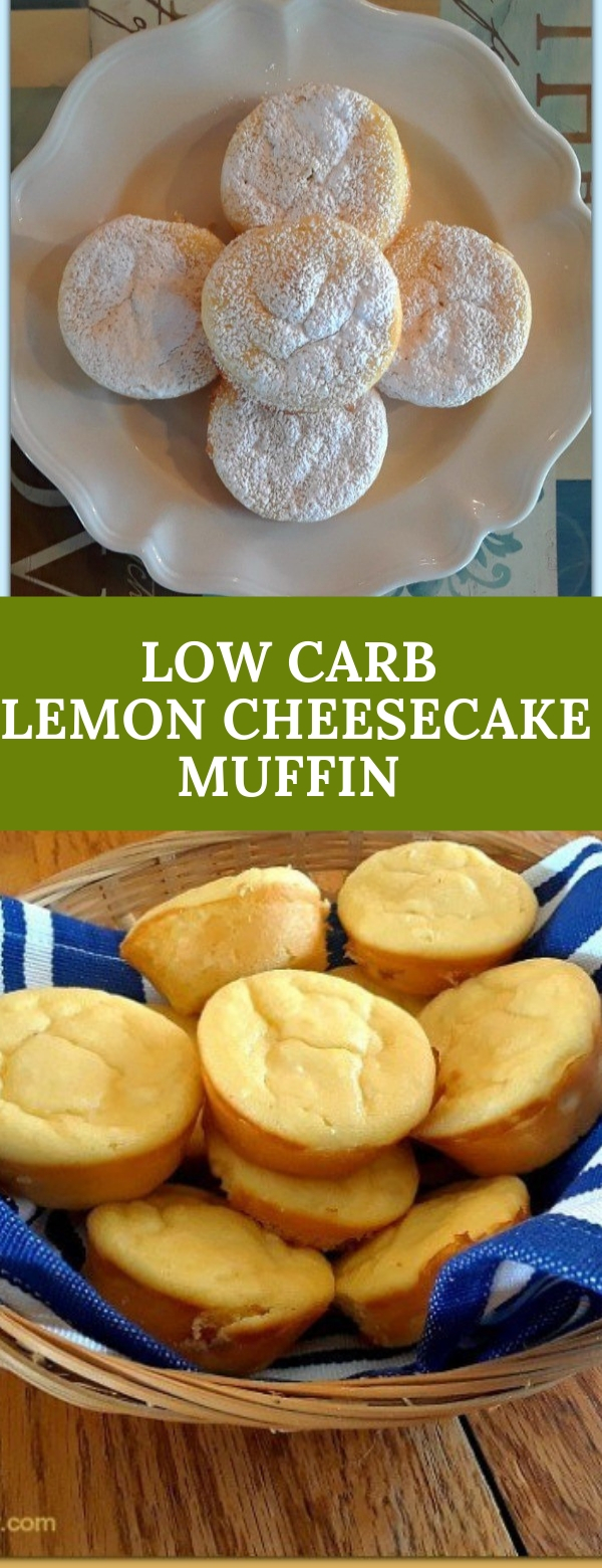LOW CARB LEMON CHEESECAKE MUFFIN RECIPE
