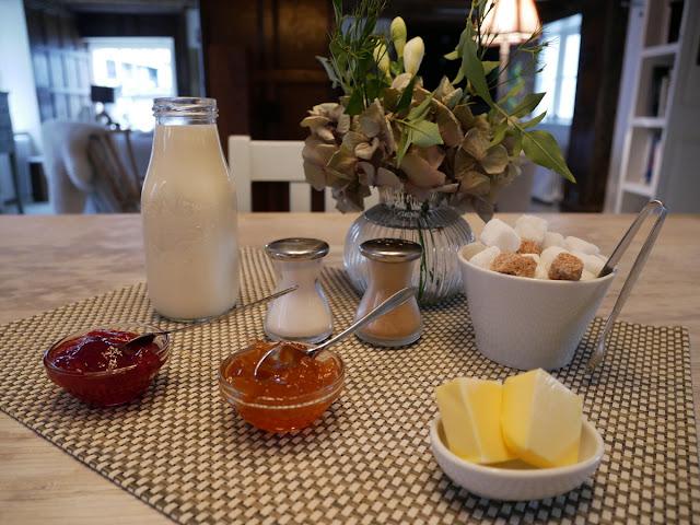 The breakfast setting at Swan House B&B, Hastings