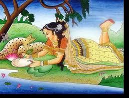Gandharva Marriage-Shakuntala and Dushyant.