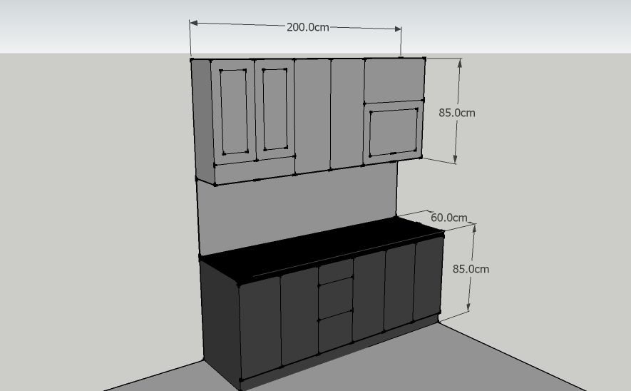 Kitchen set minimalis murah for Kitchen set lurus