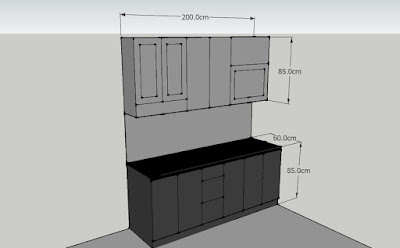 Gambar 3D Kitchen Set Minimalis