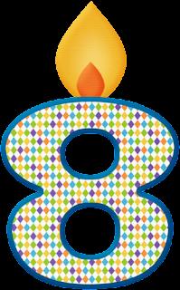 Números Velas de Cumpleaños.