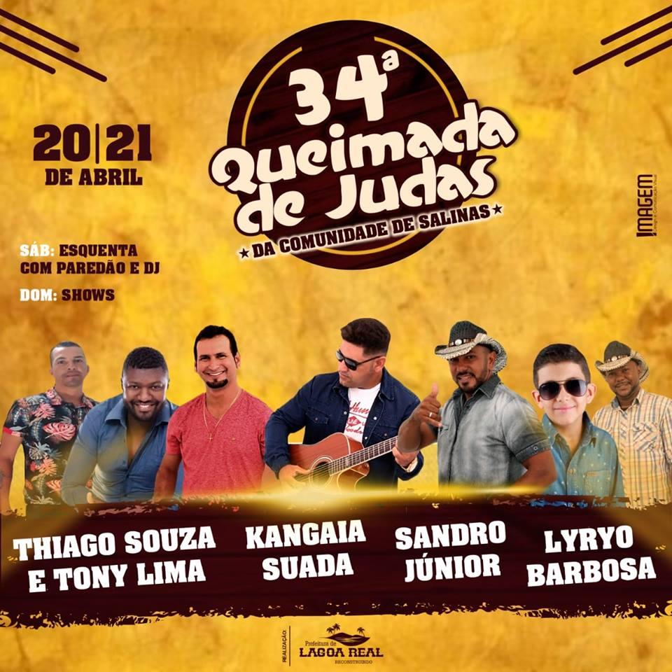 Lagoa Real: Vem aí a 34ª Queimada de Judas da Comunidade de Salinas
