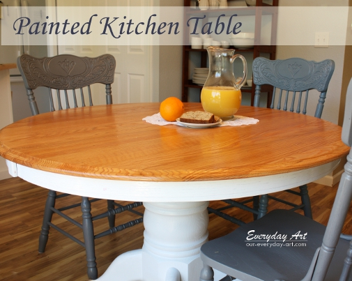 Everyday Art: Painted Kitchen Table