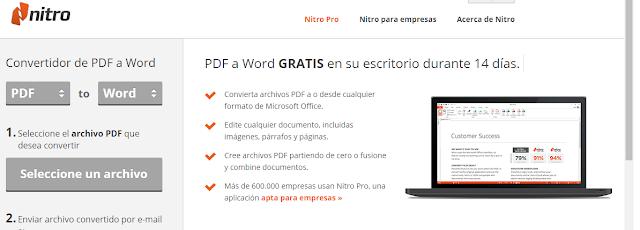 Conversores de pdf a word