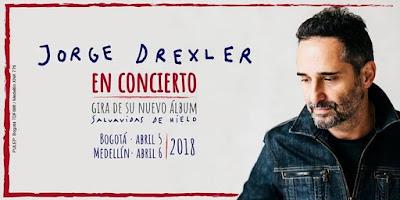 JORGE DREXLER Tour Salva Vidas de Hielo en Bogotá 2018
