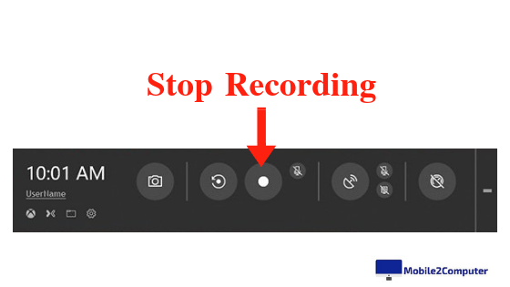 Stop Recording in Game Bar