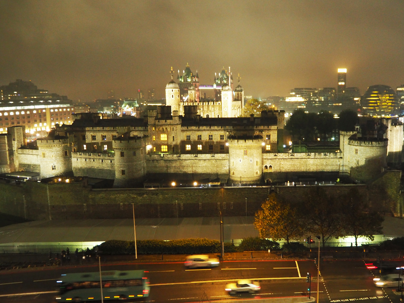 Tower of London, view from citizenM Tower Hill