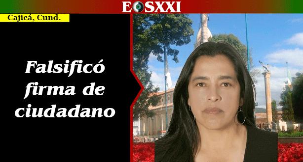 Suspendida concejala de Cajicá por suplantación y falsificación de firma