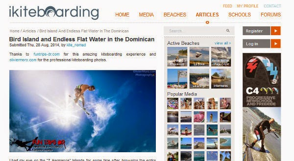 http://www.ikiteboarding.com/article/bird-island-and-endless-flat-water-dominican