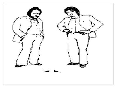 open triangular standing position