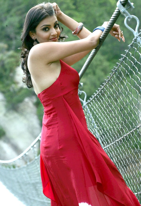 Kajal Agarwal Latest Photos In Spicy Red Dress