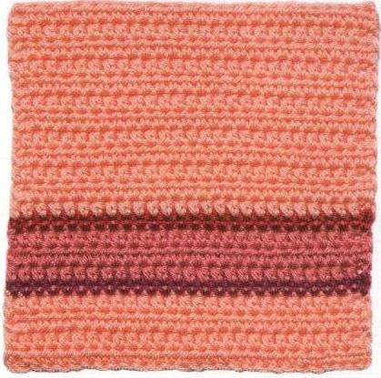 Patrón #1797: Cuadrado tricolor a Crochet