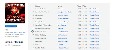 X Factor Philippines All Star album