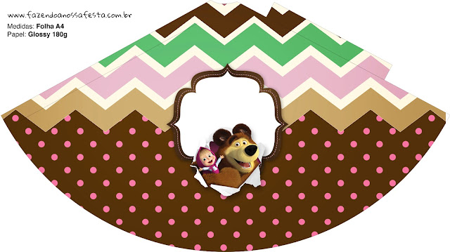 Masha and the Bear Party Free Printable Hat.