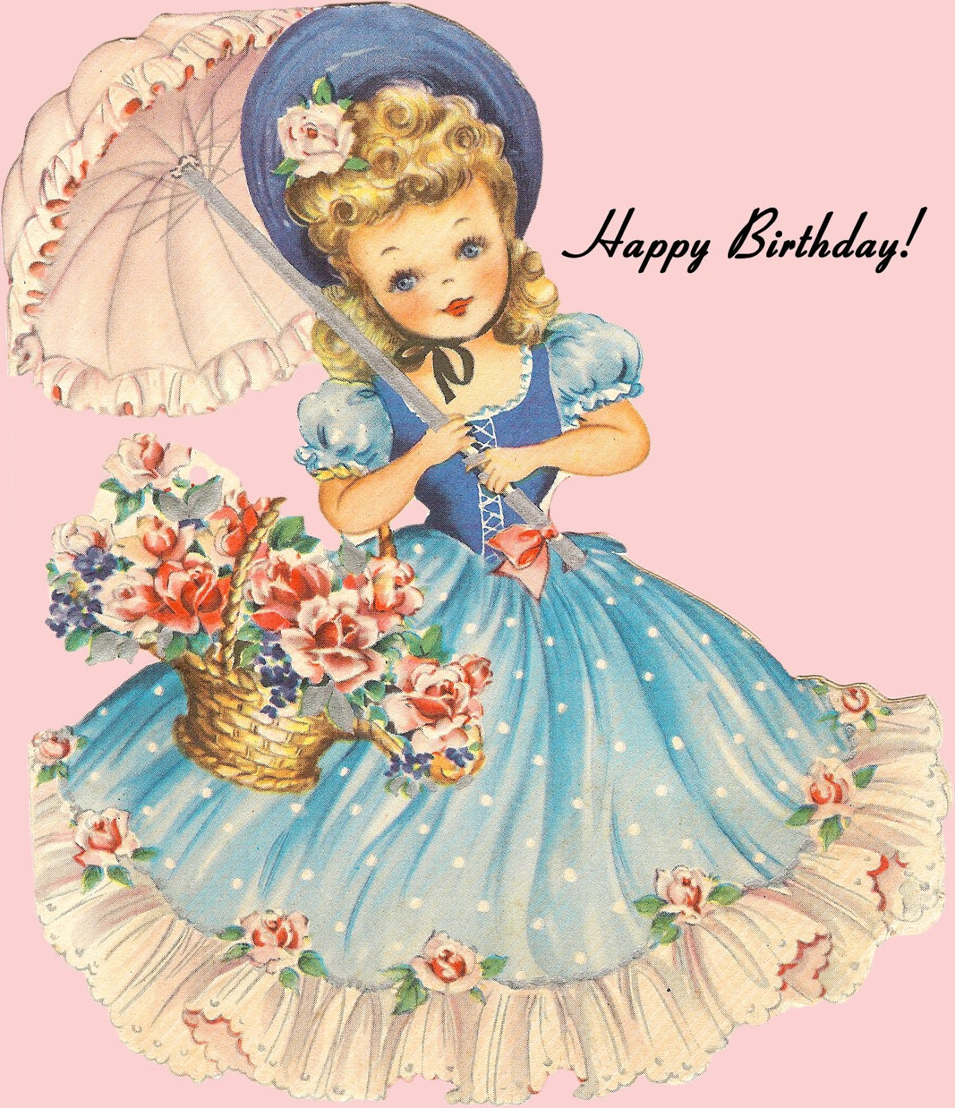 Images Of Vintage Girls First Birthday Card: **FREE ViNTaGE DiGiTaL STaMPS**: Free Retro Image
