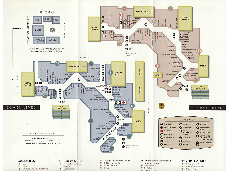 Cherry Creek Mall Map The Mallmanac: All Mallmanac – Cherry Creek Center, Cherry Creek, CO