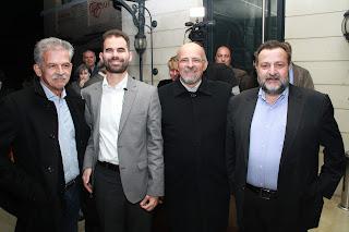 οι βουλευτές Ηρακλείου Κρήτης κ. Βασίλης Κεγκέρογλου και κ. Σπυρίδων Δανέλης με τον κ. Αυγουλά και τον κ. Αχλαδιανάκη