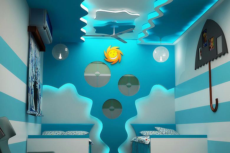 ديكورات جبس غرف نوم اطفال وافكار شركة ارابيسك