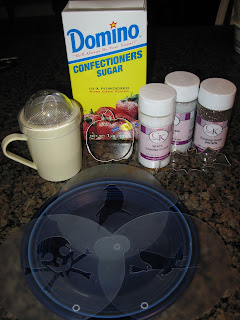Supplies for Stenciled Halloween Cupcakes
