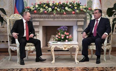 Vladimir Putin, Emomali Rahmon, Dushanbe.