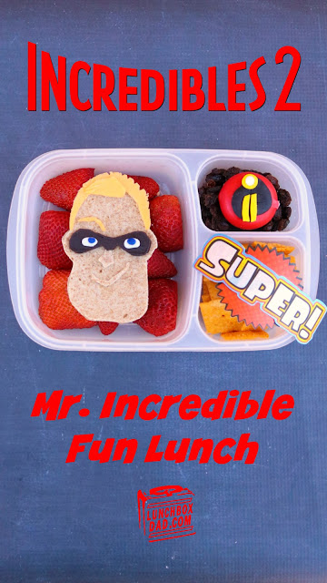 How to make a Mr. Incredible Disney Pixar Incredibles 2 fun lunch for your kids!