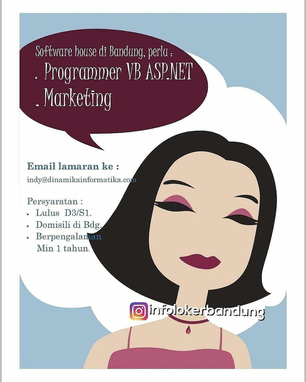 Lowongan Kerja Dinamika Informatika Bandung Februari 2019