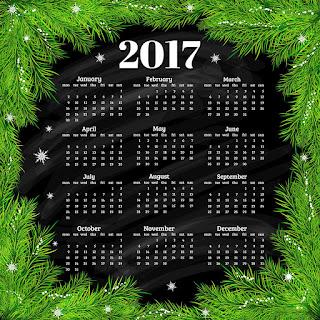 2017カレンダー無料テンプレート86