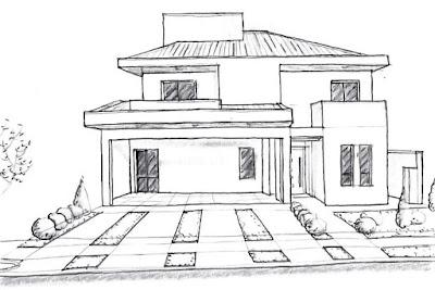 Perspectiva feita à mão livre pelo arquiteto, no final de 2015.