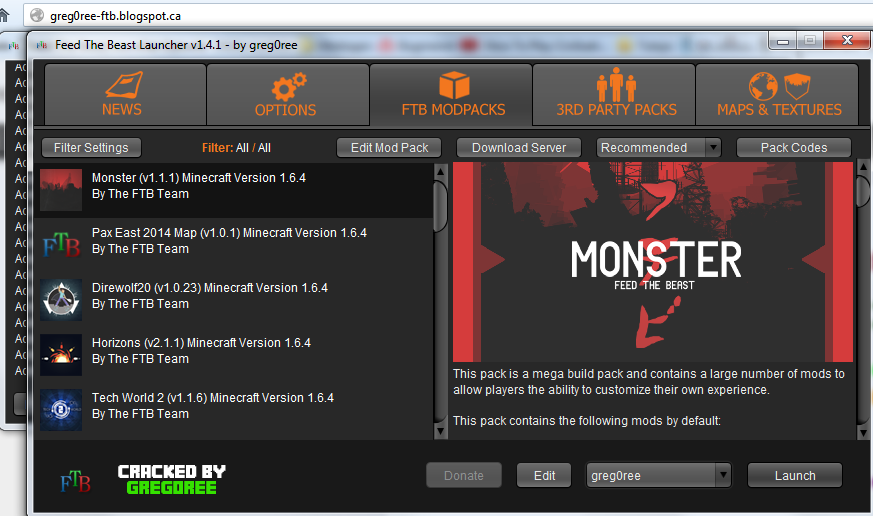 Feed The Beast Cracked -=1 4 3=- UPDATED