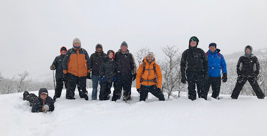 Snowshoeing with the Boy Scouts
