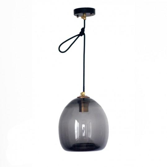 светильник colorglass с черным плафоном