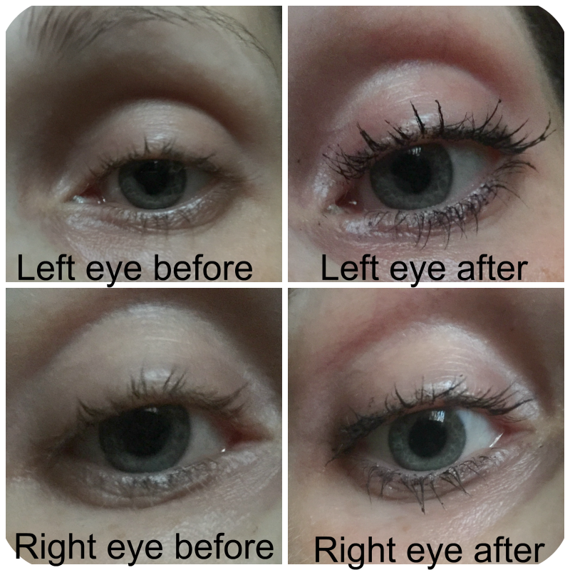 before and after rimmel scandaleyes reloaded mascara