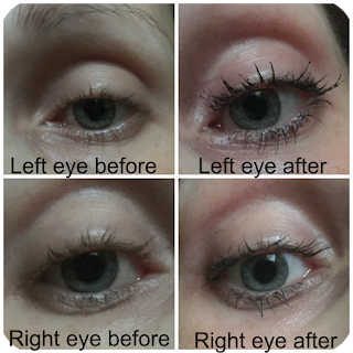 before and after rimmel scandaleyes reloaded mascara