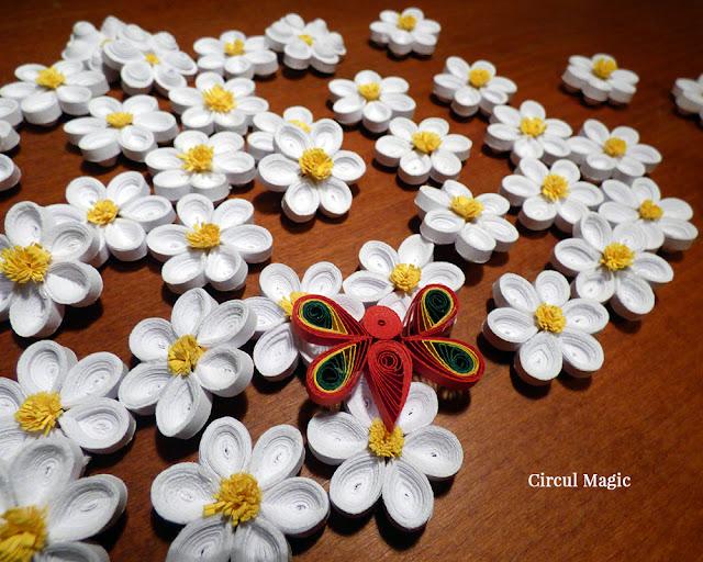 handmade flori fluture quilling circul magic bine ai venit vara