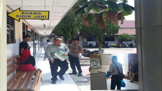 Pejabat Pemkab Asahan saat berada di Polres Asahan untuk menjalani pemeriksaan yang dilakukan tim penyidik KPK.