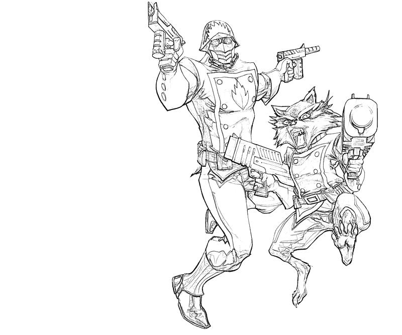 rocket raccoon coloring pages | Rocket Raccoon And Friends | Lowland Seed