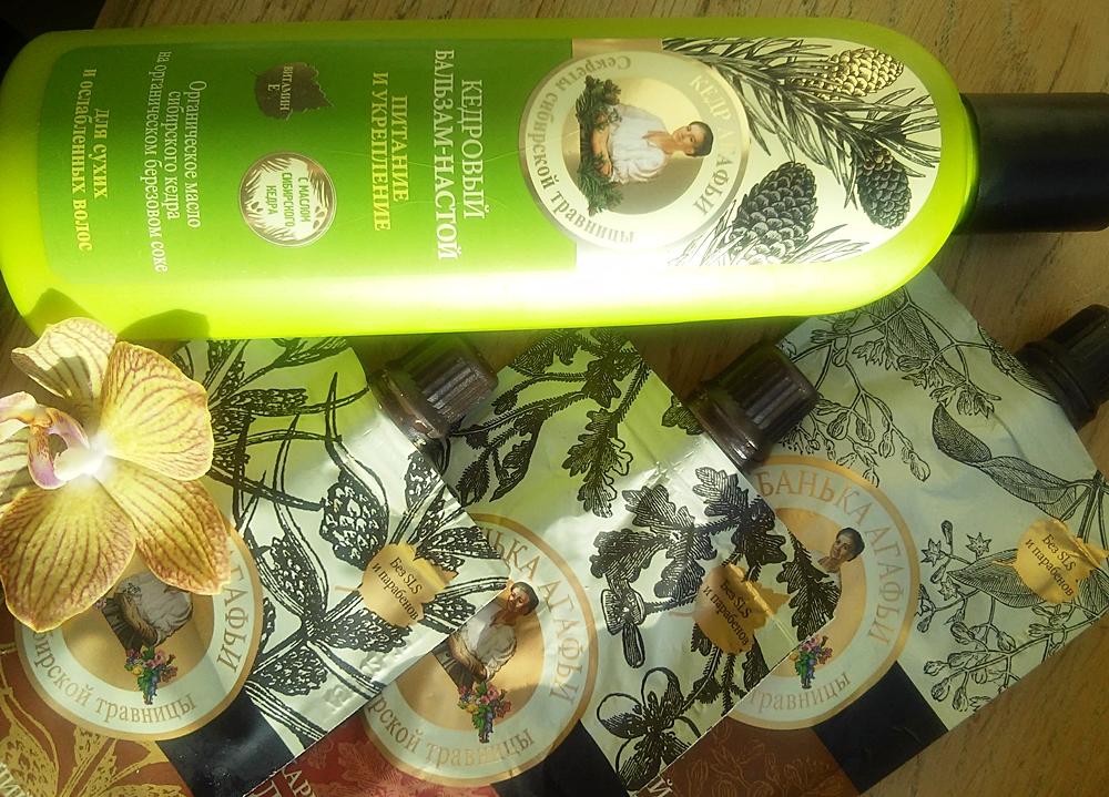 Babuszka Agafia, Balsam do włosów, peelingi do stóp i ciała