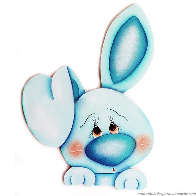 Conejitos de Pascua en Goma Eva Fácil de hacer. Molde de Conejo de Pascua. MANUALIDADES CON GOMA EVA.
