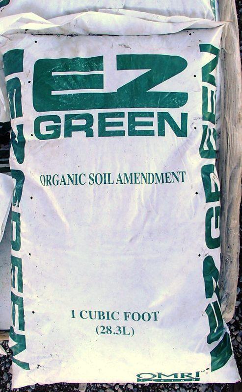 Form of ez green as an organic soil amendment that is omri certified