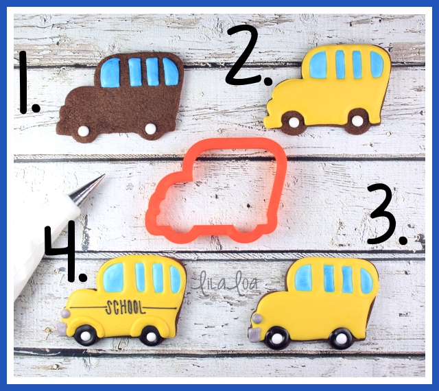 Back-To-School Bus Sugar Cookie Decorating Tutorial