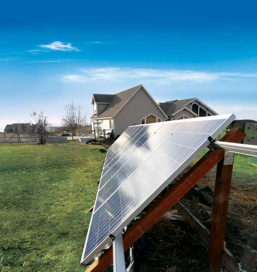 Solar Installation In The Backyard