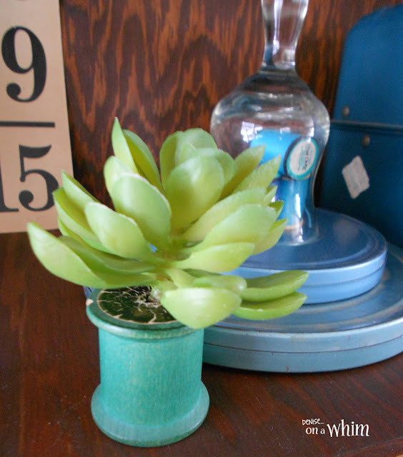 Wooden Spool Succlent Planter | Denise on a Whim