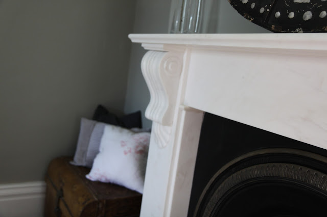 Our family room with Farrow and Ball Hardwick White