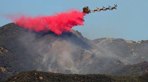 Santa Spotted Over The Angeles National Forest