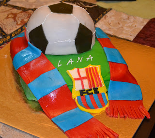 Barcelona Football Birthday Cakes